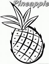 Pineapple Coloring Fruit Printable Pineapples Plant Clipart Vegetable Cartoon Coloringfolder sketch template