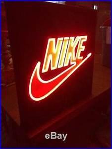 Rare vtg NIKE Neon sign store display light up advertising