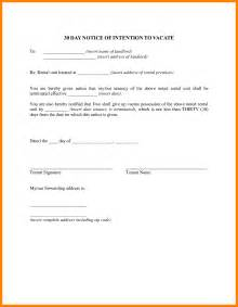 30-Day Notice to Landlord Template
