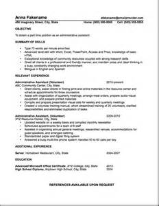 resume that includes volunteer work sle administrative assistant resume resumes