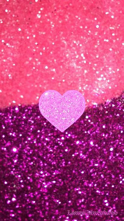 Glitter Iphone Sparkle Wallpapers Pink Background Bling