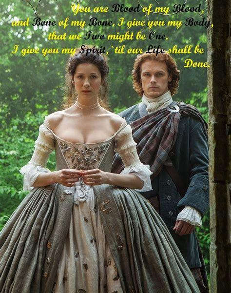 outlander jamie  claire wedding   blood