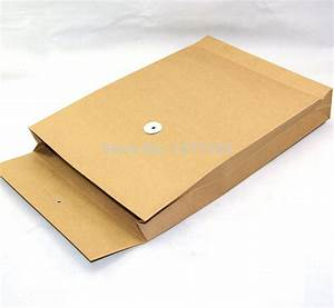 a4 size kraft paper envelope with string for documents With document envelope
