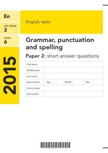 key stage  level   english tests grammar
