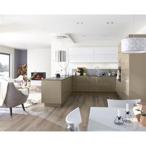 chaise et table de cuisine meuble de cuisine taupe delinia leroy merlin