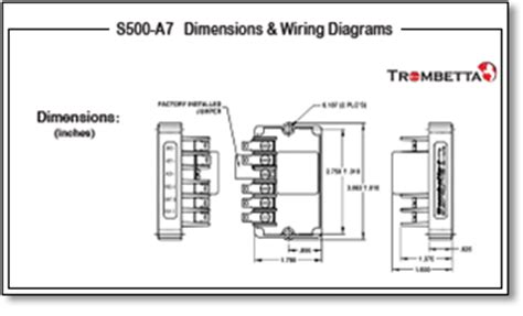 trombetta s s500 a5 a6 and a7 are electronic modules for dual winding solenoid