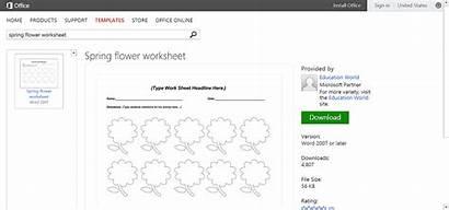 Spring Microsoft Word Worksheet Template Flower Templates