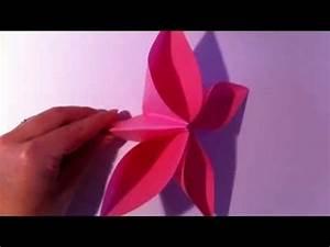Origami Blumen Falten : origami blume selber basteln papierblume falten youtube ~ Watch28wear.com Haus und Dekorationen