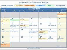 November 2014 Calendar Related Keywords November 2014
