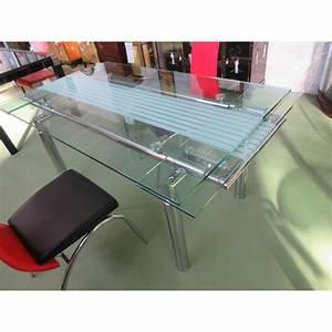 table salle a manger verre avec rallonges magasin du With meuble salle À manger avec table a manger gigogne
