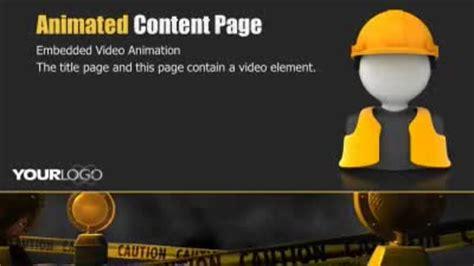 caution tape  powerpoint template  presentermediacom