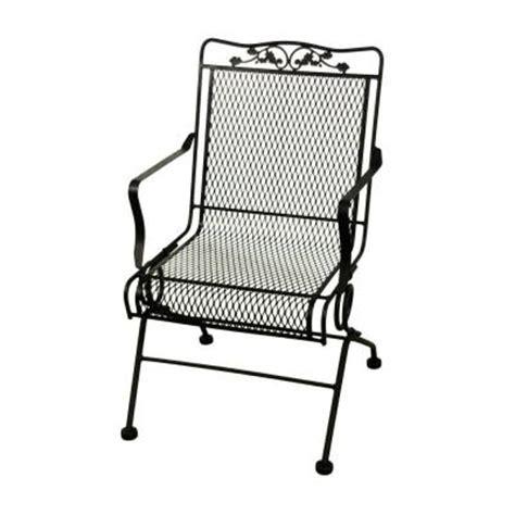 arlington house glenbrook black patio chair 2 pack