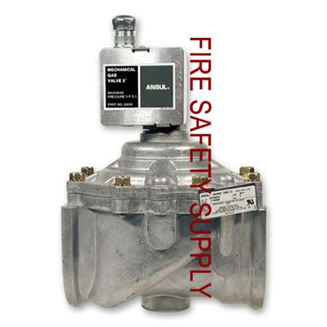 Kitchen Gas Valve by Ansul 55598 Gas Valve Mechanical 3 4 In
