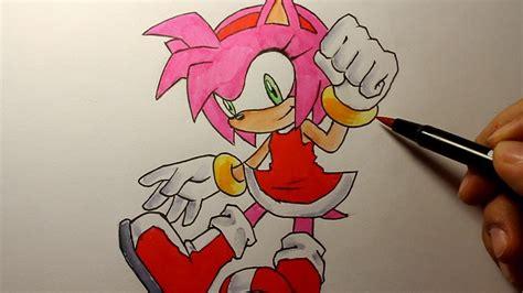 wie zeichnet man amy rose sonic  hedgehog tutorial