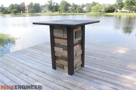 modern reclaimed pub table diy plans rogue engineer