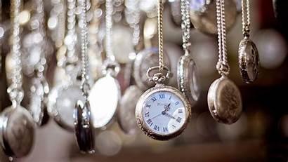 Clock Bokeh Wallpapers Clocks Uhr Aesthetic Chains