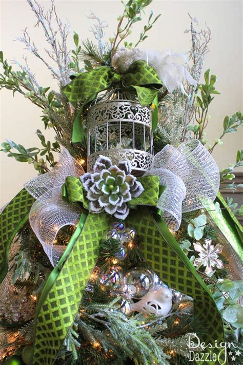 jeweled forest christmas tree design dazzle