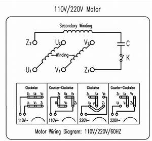 Diagram  Electric Motor Wiring Diagram 220 To 110 Full