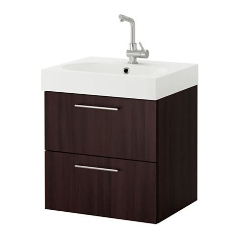 godmorgon br 197 viken sink cabinet with 2 drawers black