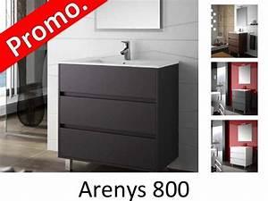 Meuble 80 Cm : meubles lave mains robinetteries meuble sdb meuble de salle de bain 80 cm arenys 800 3 ~ Teatrodelosmanantiales.com Idées de Décoration