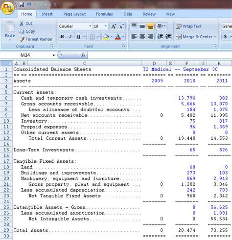 aaiis ratio analysis spreadsheet