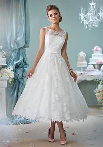 tea length wedding dresses With medium length wedding dresses