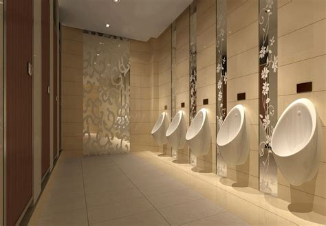 agreeable restroom design mall public male toilet interior