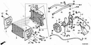 Honda Atv 2013 Oem Parts Diagram For Radiator