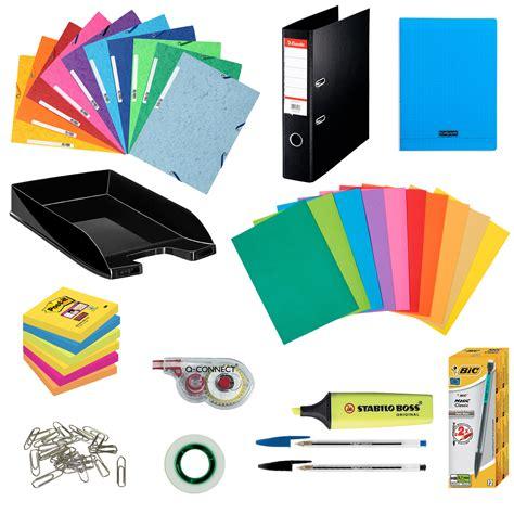 fournitures de bureau pour particuliers pack fournitures office kits papeterie générique sur