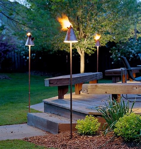 outdoor inspiration cool tiki torches to light up your