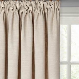 Buy john lewis croft collection skye lined pencil pleat for Pencil pleat curtains on track
