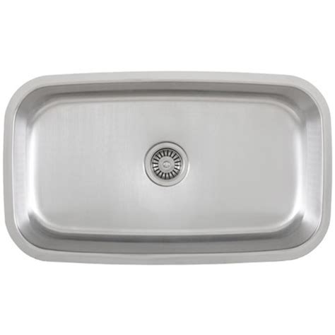 ticor s112 undermount stainless steel single bowl kitchen sink