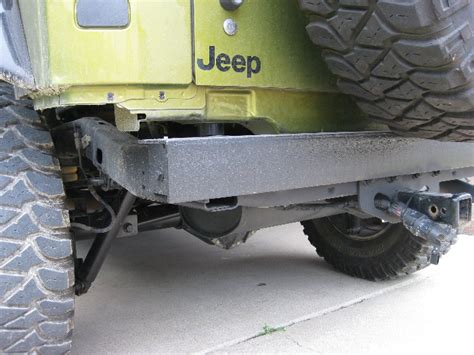 homemade jeep rear bumper jeep cj homemade bumper