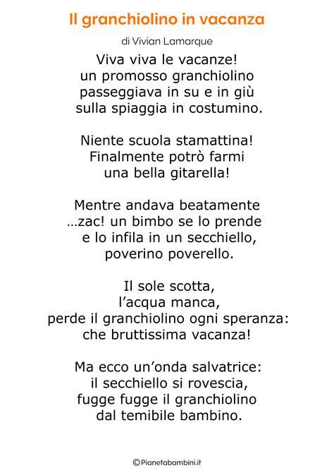 24 Poesie sul Mare per Bambini | PianetaBambini.it