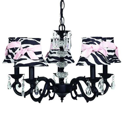 zebra print chandelier black 5 arm glass turret chandelier optional zebra shades