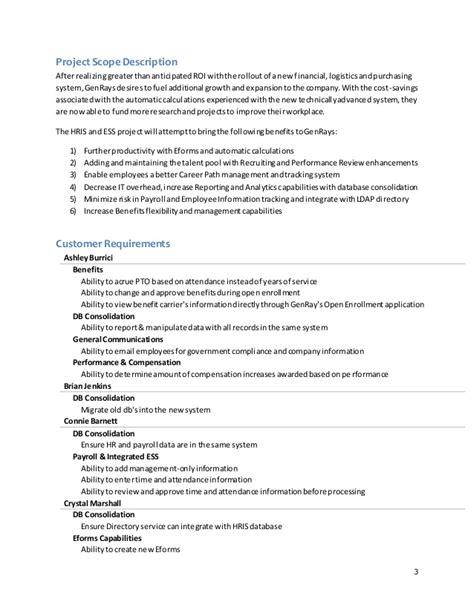 genrays project scope document