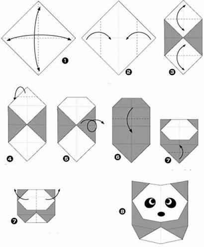 Origami Simple Panda Fun Figures Diy Paper