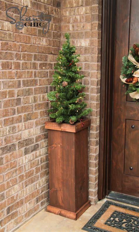 diy  christmas tree plant stand shanty  chic
