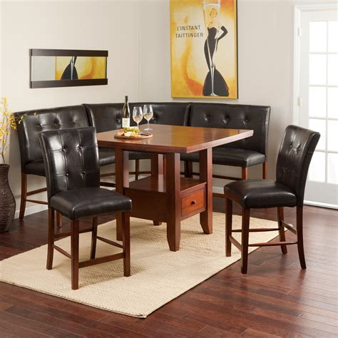 kitchen nook set ravella counter height 6 nook set dining table