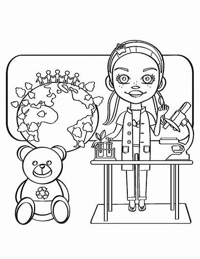 Coloring Scientist Pages Scientists Mad Science Nih
