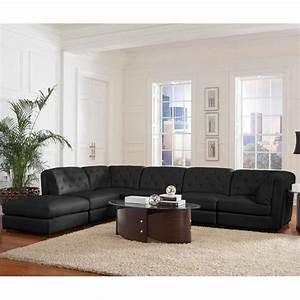 Coaster quinn transitional modular leather sectional sofa for Quinn sectional sofa