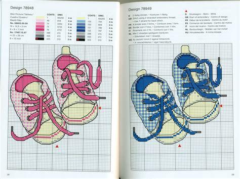 chaussures baskets enfant grilles point de croix cadres de
