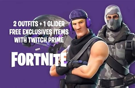 fortnite skins twitch prime season glider game amazon outfits guide rewards kill games note