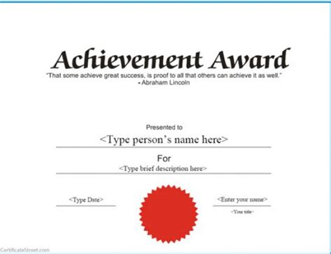 template printable certificates  achievement