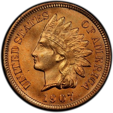 indian pennies 1907 indian head pennies values and prices past sales coinvalues com