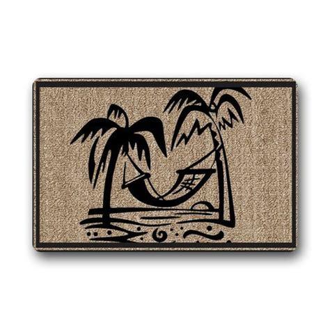 palm tree doormat evergreen fashion welcome palm tree machine washable