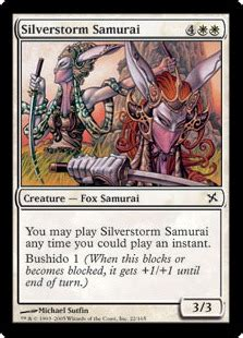 Competitive Samurai Deck Mtg by Silverstorm Samurai Magic Card