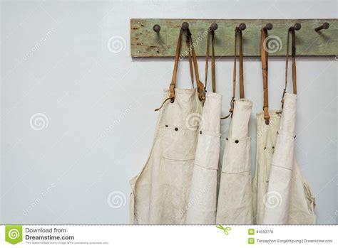 hang clothes on wall white apron clothes hang stock photo image 44593776