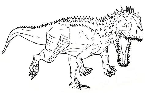 indominus rex jurassic park coloring sheet  indominus