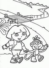 Coloring Dora Pages Go Diego Explorer Printable Boots Sheets Popular Print sketch template
